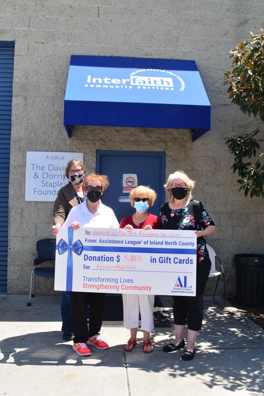 ESCONDIDO: Assistance League donates $5,000 to