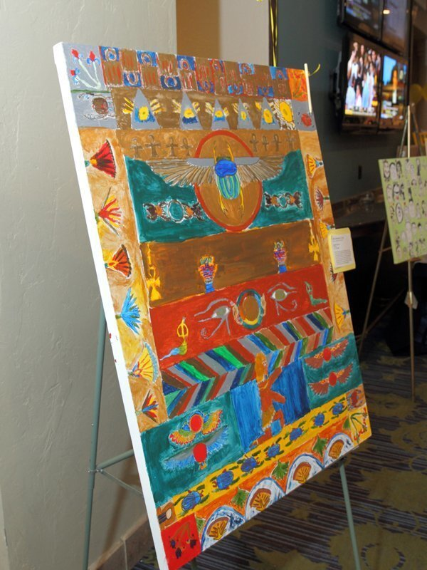 Egyptian Tapestry created by the 6th grade
