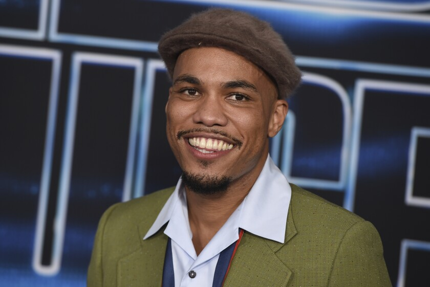 """Anderson .Paak arrives at the world premiere of """"Spies in Disguise"""" at the El Capitan Theatre on Wednesday, Dec. 4, 2019, in Los Angeles. (Photo by Jordan Strauss/Invision/AP)"""