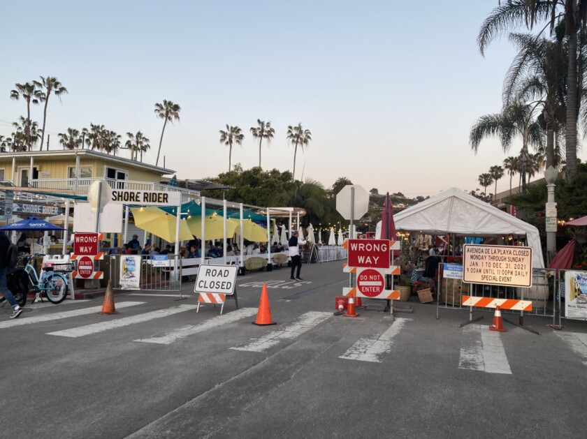 Merchants on Avenida de la Playa are forming a business association to further efforts to keep outdoor dining permanently.