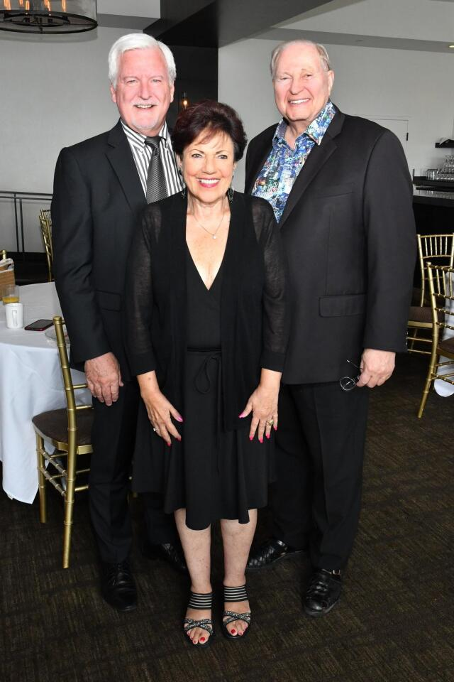 Jeffrey Schreiver (first VP), Caryl Iseman (senior female member), Corky Mizer