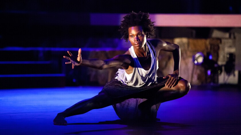Urban Bush Women dancer Chanon Judson performs the John Coltrane tribute at the Ford amphitheater.