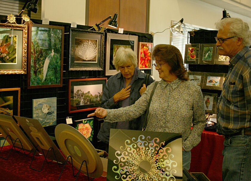 The San Dieguito Art Guild bazaar offers a chance to buy original artworks. Photo by Pam Waldman