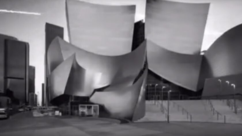 A screen image from a recent NRA video shows Walt Disney Concert Hall by Frank Gehry.
