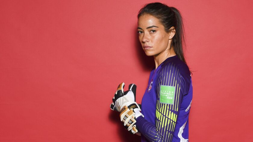 Chile's Ryann Torrero poses for a portrait during the official Women's World Cup 2019 portrait session on June 9 in Rennes, France.