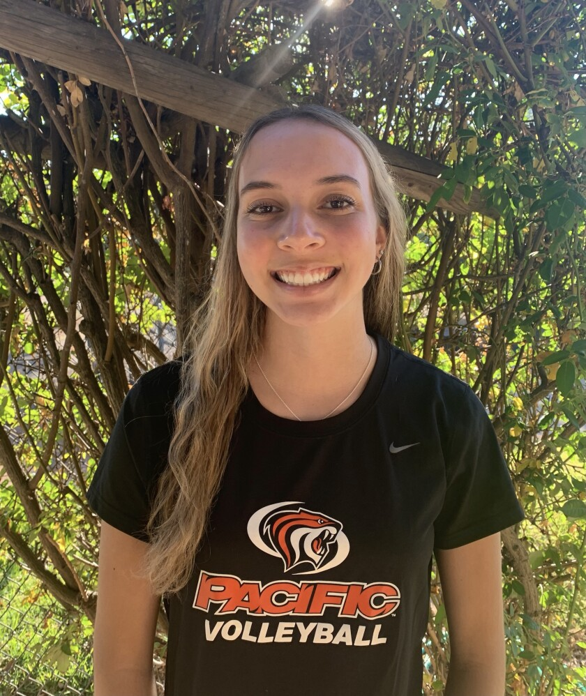Sammie Sublett, a Ramona High School senior, has signed a letter of intent to play volleyball at University of the Pacific