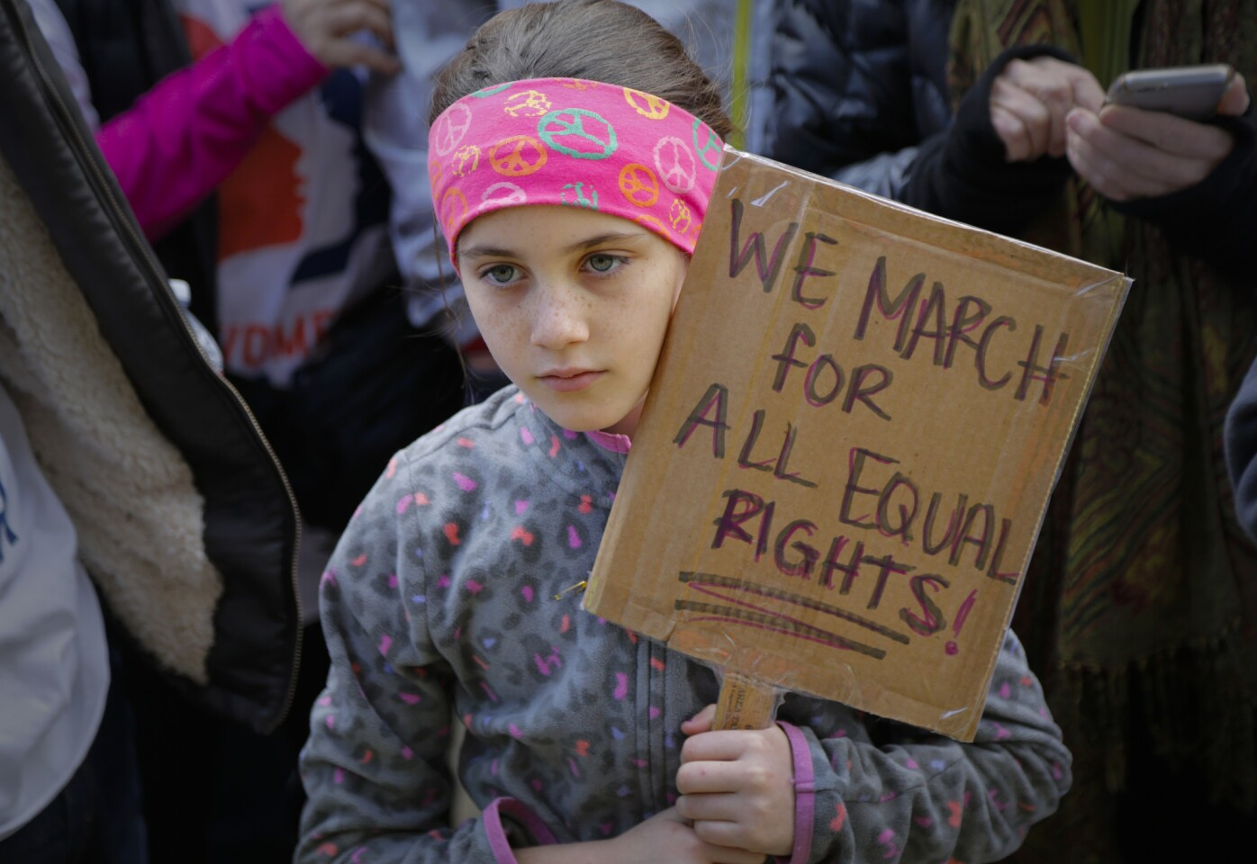 Samantha Cross was one of the thousands who participated in the San Diego Women's March that started at Civic Center Plaza in Downtown San Diego and finished at the San Diego County Administration Center.