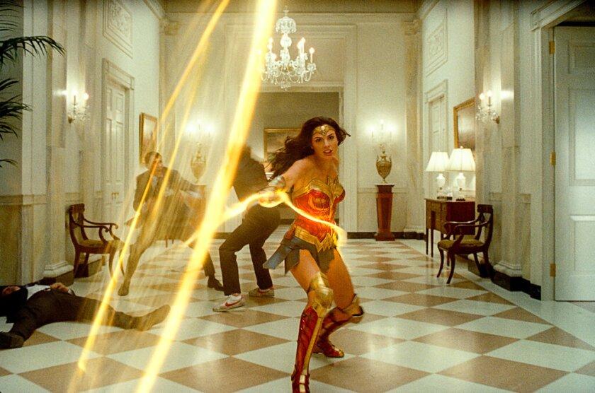 "Gal Gadot en una escena de ""Wonder Woman 1984"""