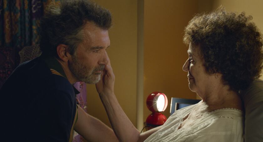 "Antonio Banderas and Julieta Serrano in ""Pain and Glory."""