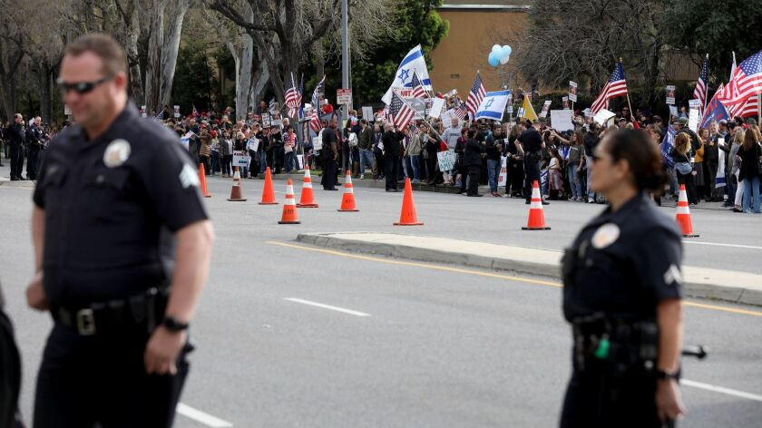 CANOGA PARK, CALIF. -- SATURDAY, MARCH 23, 2019: California Rally against Rep. Ilhan Omar (D-Minn.)