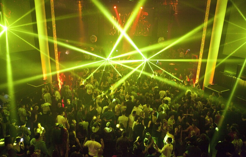 Avalon Hollywood, a fixture on the electronic dance music scene since its opening in 2003 in the old Palace space, has undergone a substantial renovation that includes a new sound system. The building dates from the 1920s. Here, patrons dance in during the main event of the club's Grand Reveal series marking its transformation on May 10, 2014.
