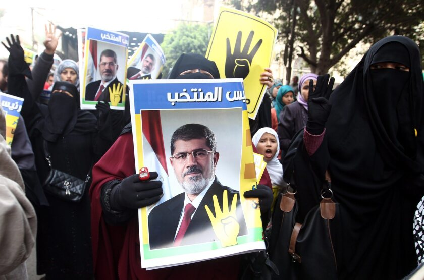 Muslim Brotherhood supporters protest in Cairo