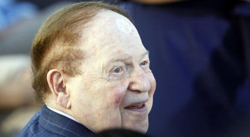 "Businessman Sheldon Adelson says he's ""basically a social liberal."""