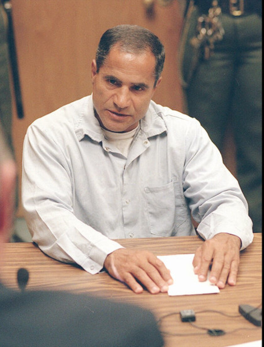 Sirhan Sirhan, convicted assassin of Robert F. Kennedy, at a parole hearing in 1997 at Corcoran State Prison.
