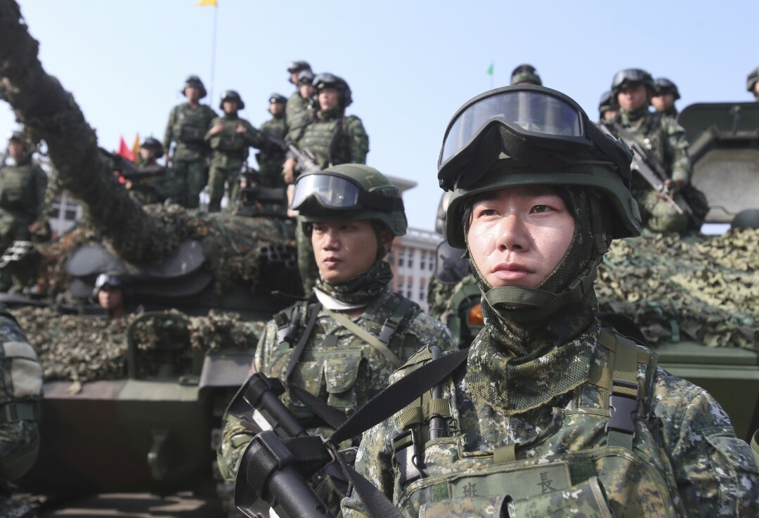 Taiwan's active-duty military has shrunk to 165,000 from 275,000 three years ago.