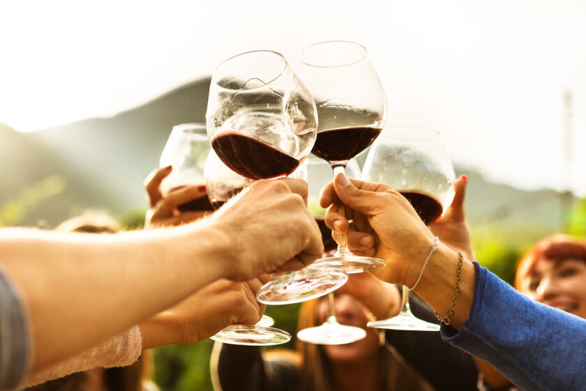 """Say """"cheers"""" on National Wine Day."""
