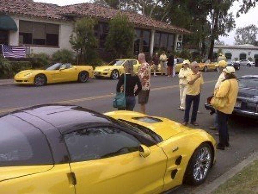 The Secret Car Club meets in the Rancho Santa Fe village on Saturday mornings. Courtesy photos