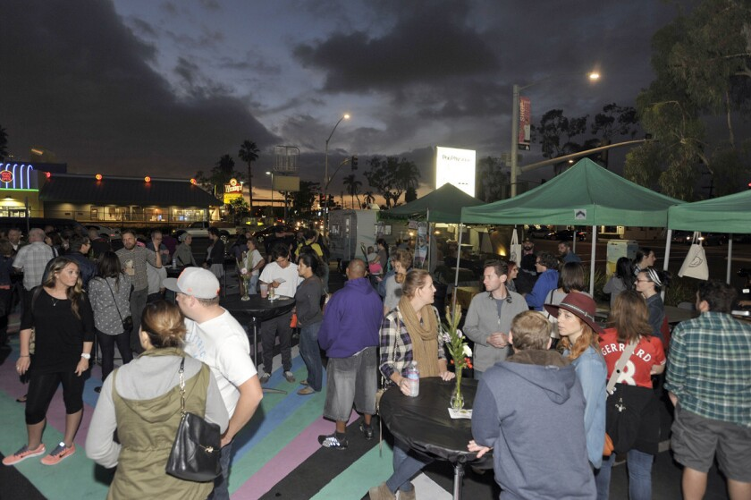 The BLVD Market, a monthly market showcasing San Diego's highly regarded and up-and-coming chefs and culinary purveyors. (Rick Nocon)