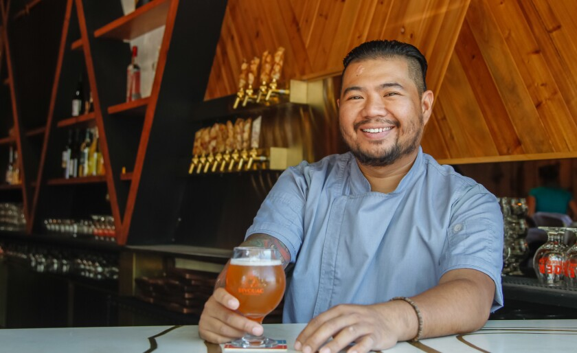 "SAN DIEGO, CA October 9th, 2018 | Chef Danilo ""DJ"" Tangalin poses for photos on Tuesday at Bivouac C"