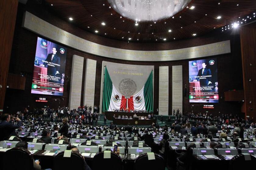 Vista general del Pleno de la Cámara de Diputados, en Ciudad de México (México). EFE/Archivo