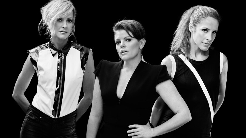 Dixie Chicks, from left Martie Maguire, Natalie Maines and Emily Strayer.