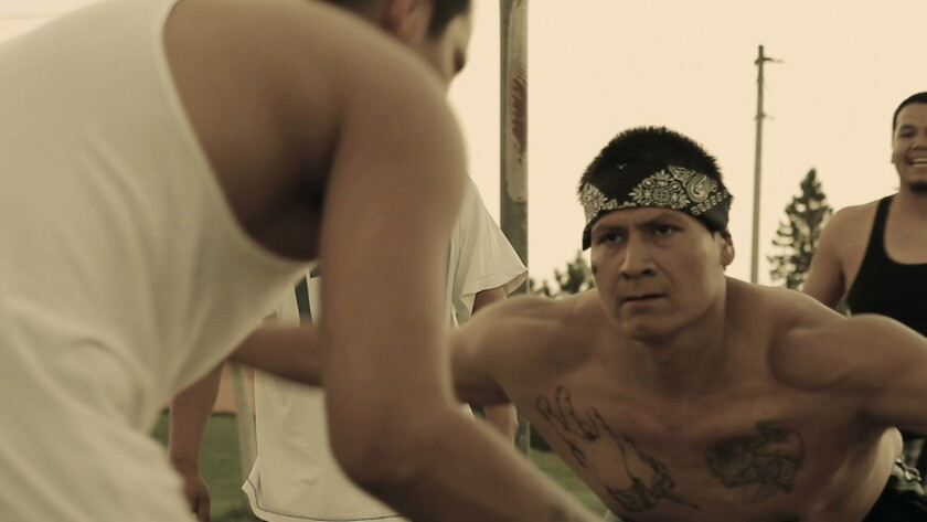 """Native American gang member Rob Brown of the White Earth Reservation in Minnesota is featured in the documentary """"The Seventh Fire."""""""