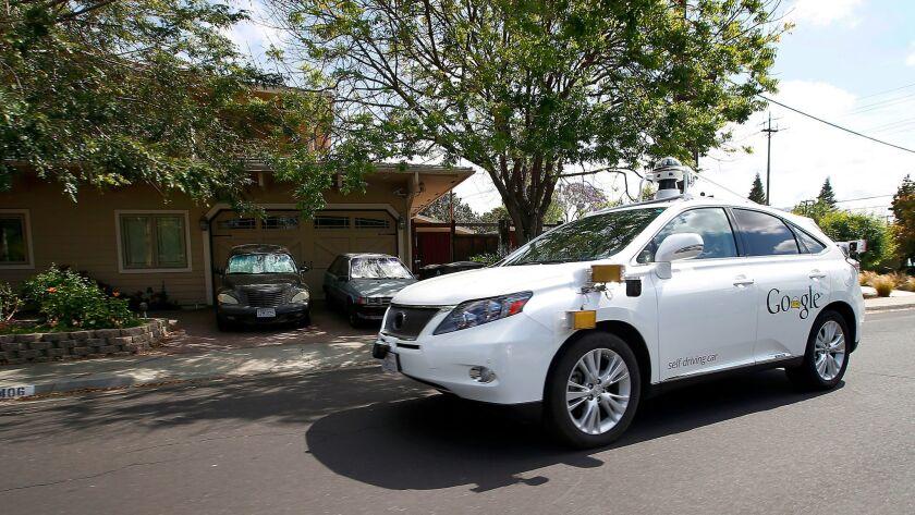 A Google (now, Waymo) driverless car.