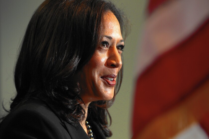 Attorney General Kamala D. Harris' name was unknown to more than half of California's registered voters, though approval was high among those who knew it.