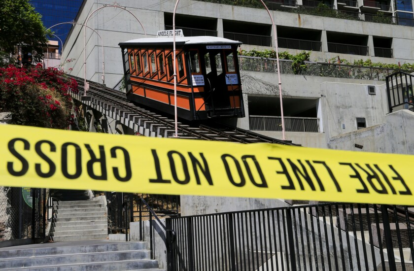 Angels Flight was shut down in 2013 after one of the rail cars jumped the tracks.