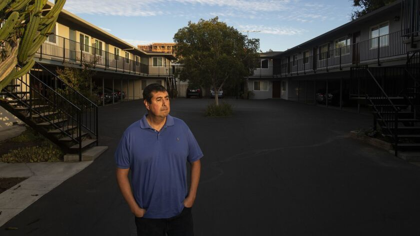 MOUNTAIN VIEW, CA - SEPTEMBER 14, 2018: Martin Cortez of Mountain View credits the rent control mea