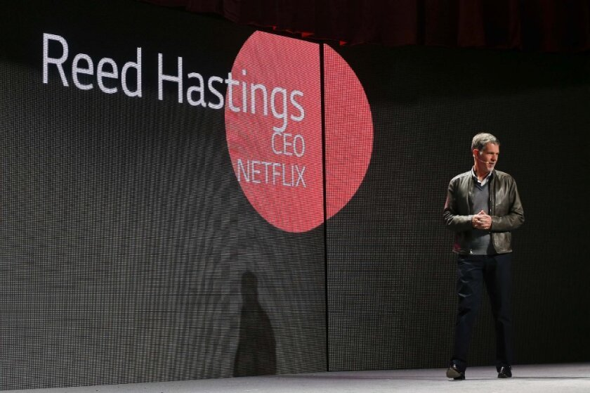 Consumers' friend, or secret foe? Netflix CEO Reed Hastings at the recent CES gadget show in Las Vegas.