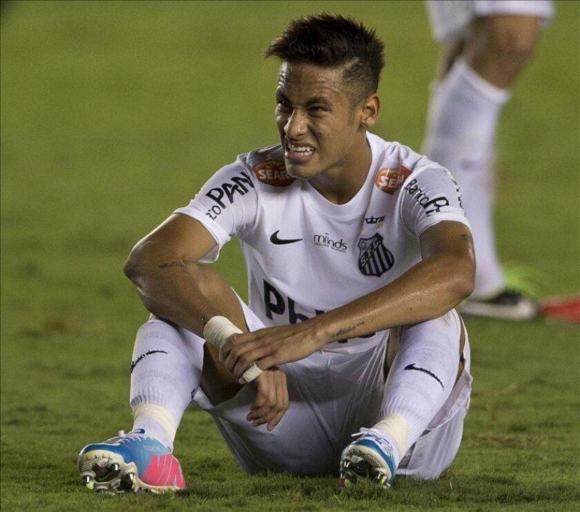 El jugador de Santos Neymar. EFE/Archivo
