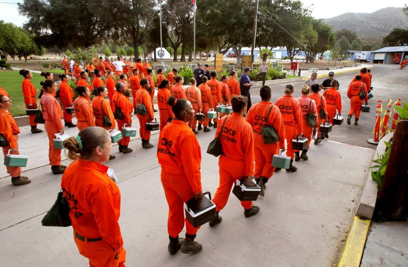 The firefighting inmates of Puerta La Cruz Conservation Camp near Warner Springs