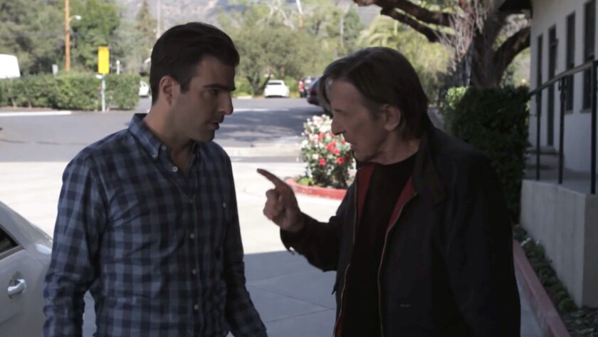 Leonard Nimoy and Zachary Quinto in a screenshot from an Audi ad.