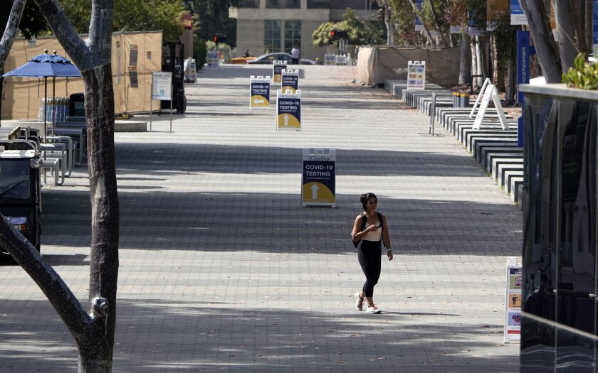 UC San Diego plans to place about 7,500 undergraduates in dorms over a 10-day period later this month.