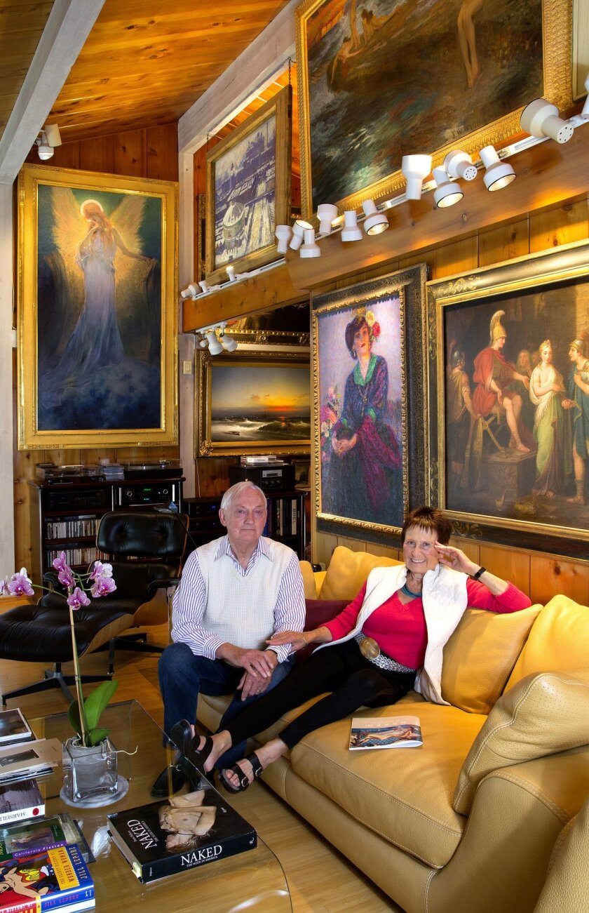 Author and retired UC San Diego literature professor Bram Dijkstra is shown at his Del Mar home with his wife, Sandra.