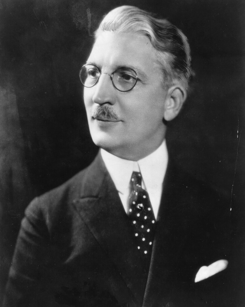 USC President Rufus von KleinSmid who approved the USC School of Cinematic Arts in 1929. Credit: USC School of Cinematic Arts