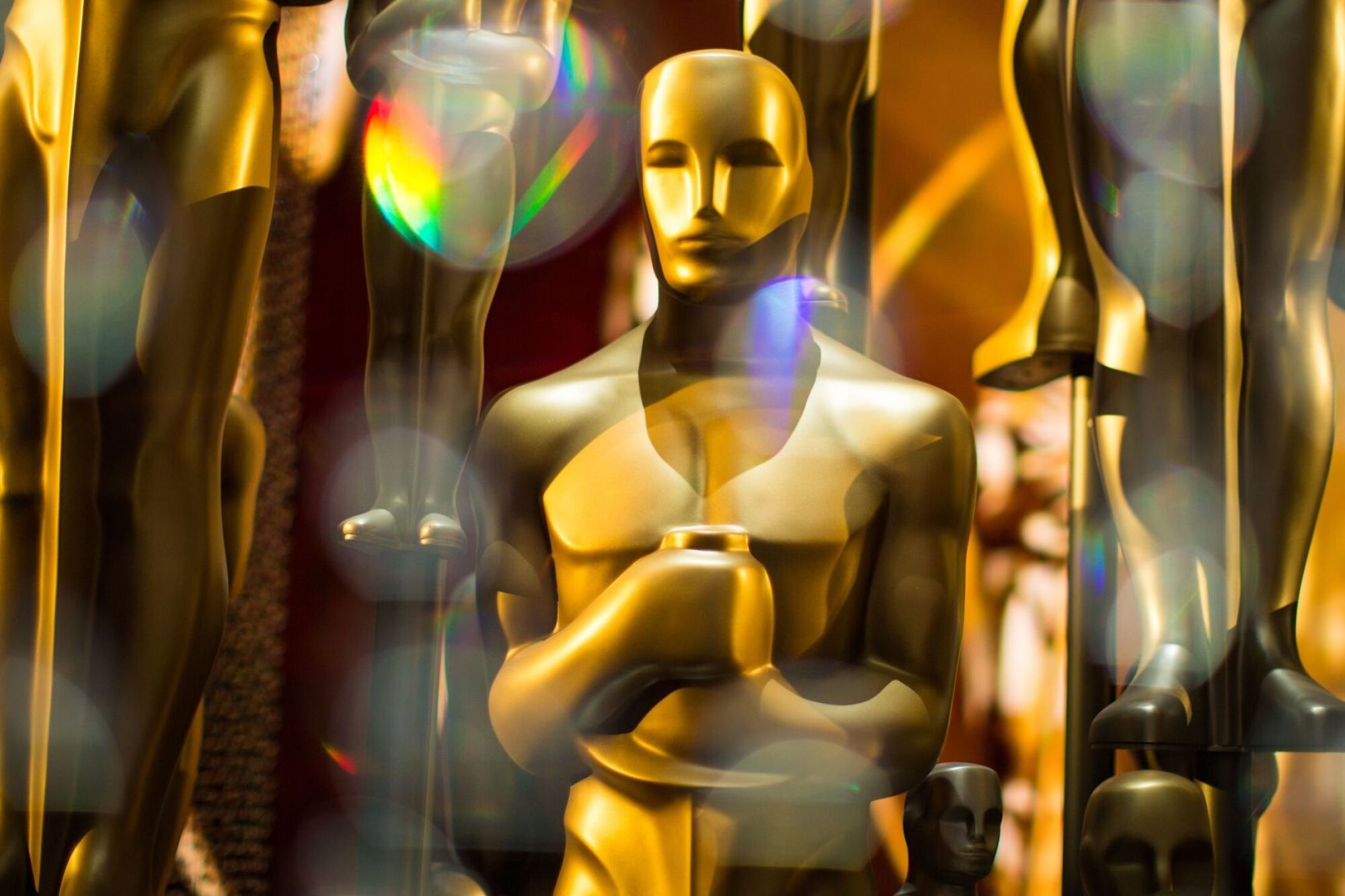 Estatuillas de los Oscar tras bastidores en la 88ª edición de los Premios de la Academia en 2016.