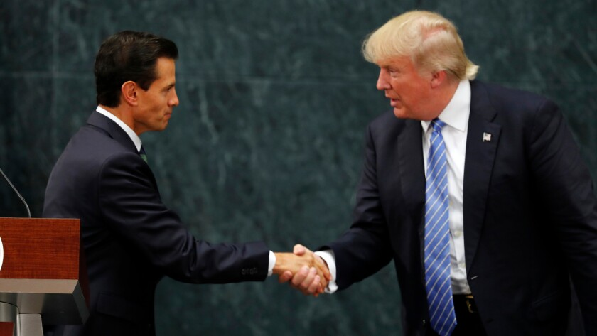 Donald Trump and Mexican President Enrique Peña Nieto