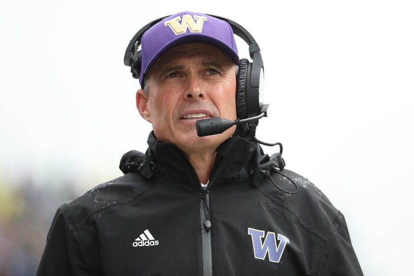 Chris Petersen announced Monday he's stepping down as head coach of the Washington football team following the Huskies' bowl game.