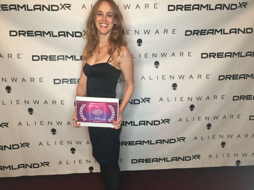 La Jolla High School graduate Eve Weston has produced an award-winning virtual-reality sitcom.