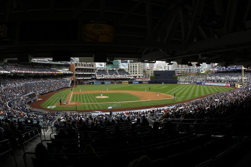 The Padres took on the Rockies on a drizzly afternoon at Petco Park.