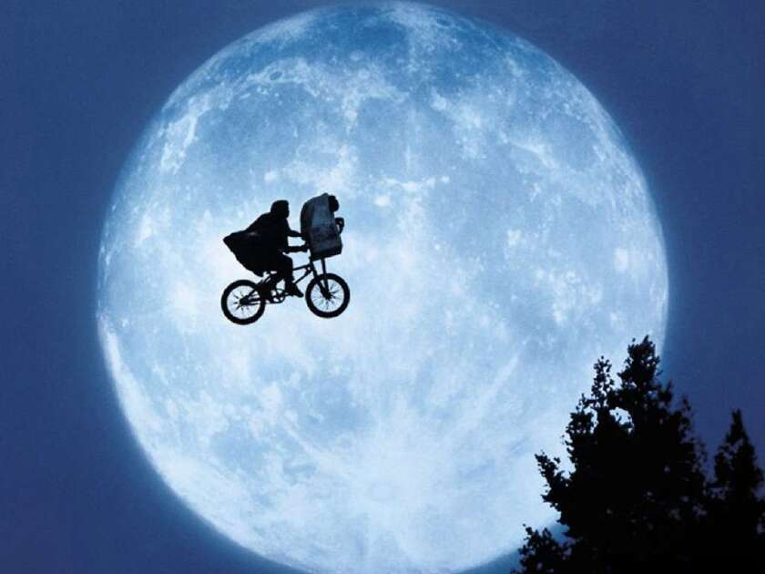 """A scene from the movie """"E.T. the Extra-Terrestrial."""""""