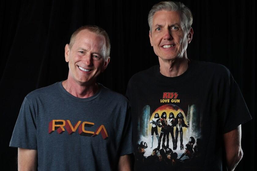 Talk show radio jocks, Kevin Ryder and Gene (Bean) Baxter.