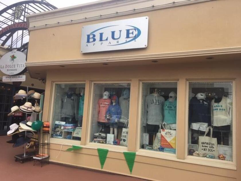 Blue Apparel is located at 1237 Prospect St., Suite M, La Jolla. (858) 454-2583. blueapparel.com