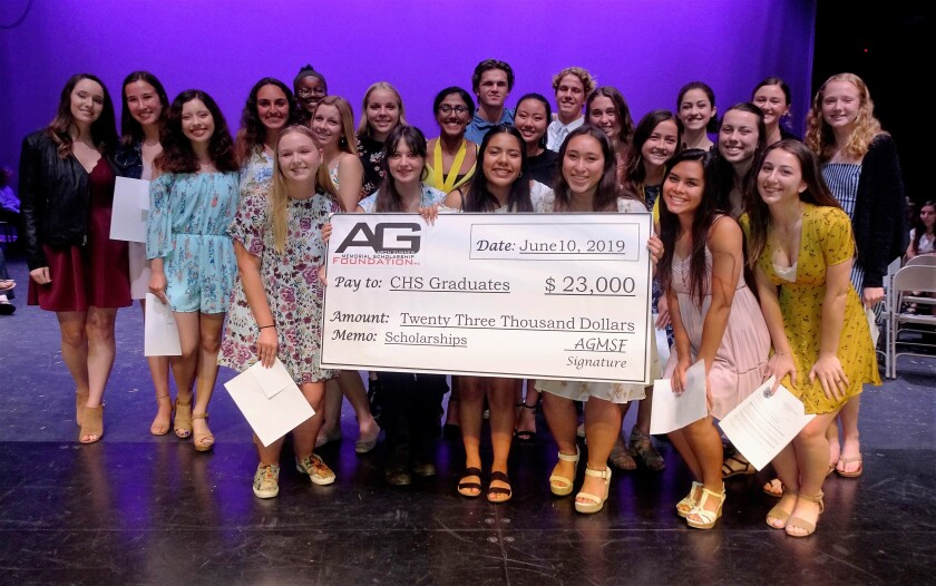 The Aron Gunner Memorial Scholarship Foundation recently awarded 23 scholarships to Carlsbad High seniors.