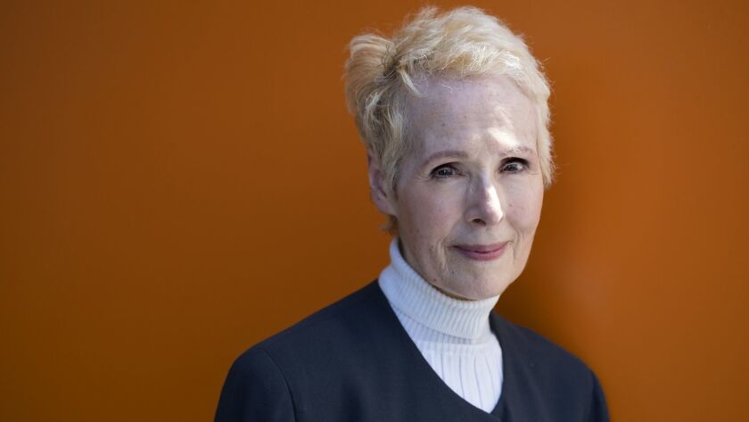 E. Jean Carroll is photographed June 23, 2019, in New York. Carroll, a New York-based advice columnist, says Donald Trump sexually assaulted her in a dressing room at a Manhattan department store in the mid-1990s. Trump denies knowing Carroll.