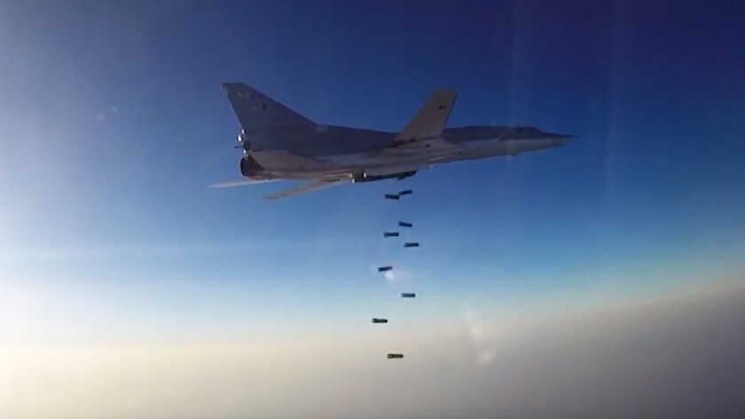 Russian bombing run