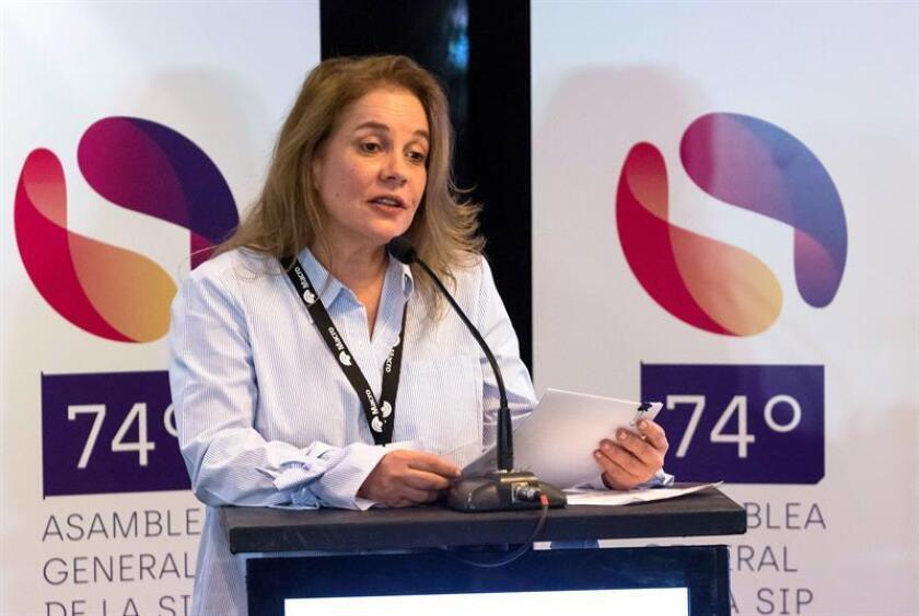 María Elvira Domínguez Lloreda, presidenta de la SIP. EFE/Archivo