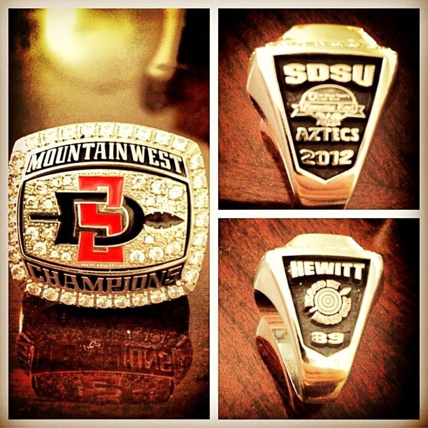 The Aztecs' Mountain West championship ring.